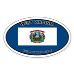 West Virginia State Flag Oval Sticker
