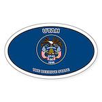 Utah State Flag Oval Sticker