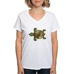 Garden Turtle Women's V-Neck T-Shirt