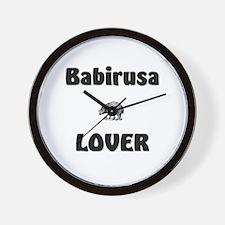 Babirusa Lover Wall Clock