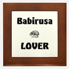 Babirusa Lover Framed Tile