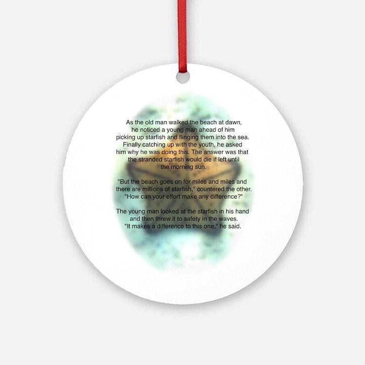Starfish Wisdom Ornament (Round)
