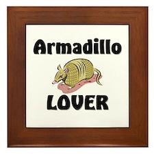 Armadillo Lover Framed Tile