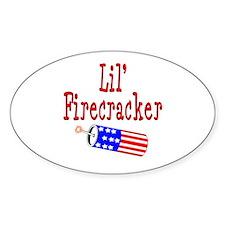 Lil' Firecracker Oval Decal
