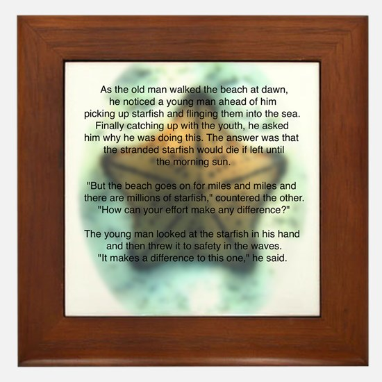Starfish Wisdom Framed Tile