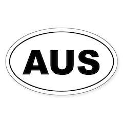 Australian Oval Decal