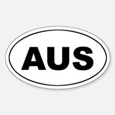 Australian Oval Decal