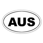 Australian Oval Sticker