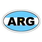 Argentinian Flag Oval Sticker