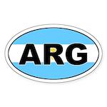 Argentinian Flag Oval Sticker