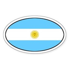 Argentinian Flag Oval Decal