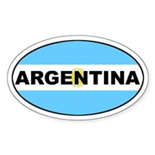Argentina National Flag Oval Decal