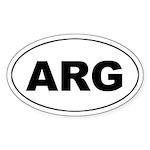 Argentina (ARG) Oval Sticker