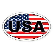 USA Patriotic Oval Bumper Stickers