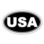 USA Patriotic Oval Sticker