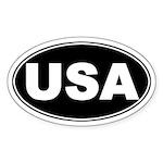 USA Patriotic Oval Sticker