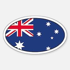 Australian Flag Oval Decal
