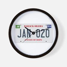 Obama License Plate Wall Clock