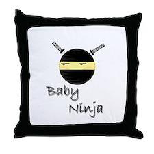 Baby Ninja Throw Pillow