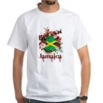 Butterfly Jamaica White T-Shirt