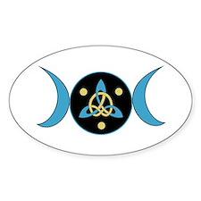 Blue Goddess Symbol Oval Bumper Stickers