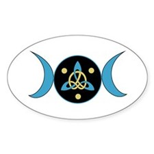 Blue Goddess Symbol Oval Decal