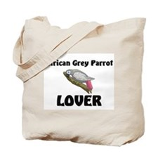 African Grey Parrot Lover Tote Bag