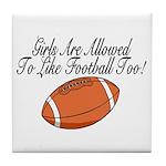 Girls & Football Tile Coaster
