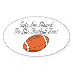 Girls & Football Oval Sticker (10 pk)