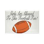 Girls & Football Rectangle Magnet (10 pack)