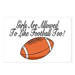 Girls & Football Postcards (Package of 8)