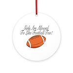 Girls & Football Ornament (Round)