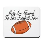 Girls & Football Mousepad