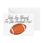 Girls & Football Greeting Cards (Pk of 20)