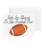 Girls & Football Greeting Card