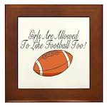 Girls & Football Framed Tile