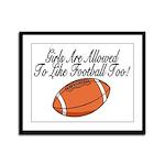 Girls & Football Framed Panel Print