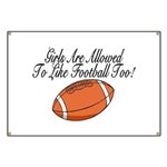Girls & Football Banner