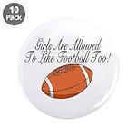 """Girls & Football 3.5"""" Button (10 pack)"""