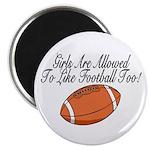 """Girls & Football 2.25"""" Magnet (10 pack)"""