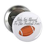 """Girls & Football 2.25"""" Button (10 pack)"""