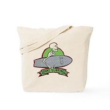 Surfing Halloween Skeleton Tote Bag