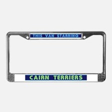 Sleepy Cairn Terriers License Plate Frame