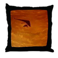 Hanggliding Throw Pillow