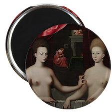 """Gabrielle d'Estrées et une de ses soeurs 2.25"""" Mag"""