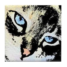 Ink Cat Tile Coaster