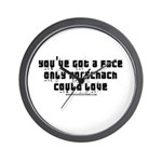 Face Only Rorschach Could Lov Wall Clock