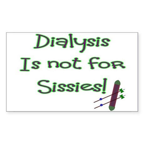 Dialysis Patient Rectangle Sticker