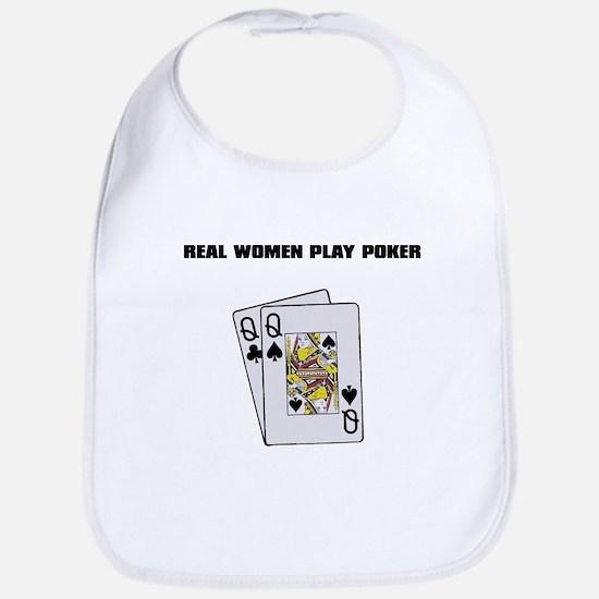 """Real Women Play Poker"" Bib"