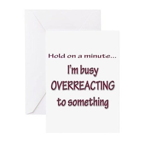 Overreacting Greeting Cards (Pk of 10)